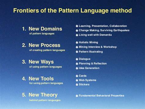 pattern language theory pattern language 3 0 and fundamental behavioral properties