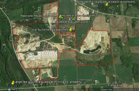 steven avery map what really happened to teresa halbach manitowoc county