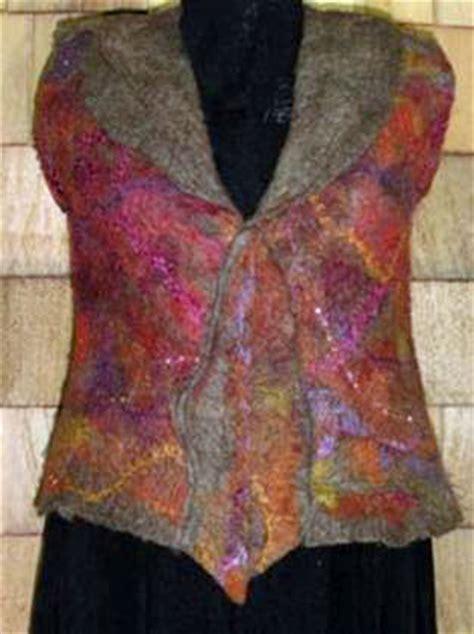 pattern for felt vest nuno felted vests gualala arts