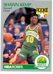 Michael Rookie Of The Year Card Mba Hoops by Shawn Kemp Basketball Card 1990 Nba Hoops