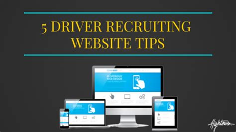 Driver Recruiter by 5 Pro Tips For Your Driver Recruiting Website