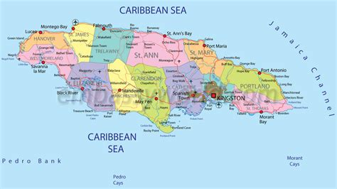 jamaica map map of jamaica from caribbean on line map of jamaica caribbean sea