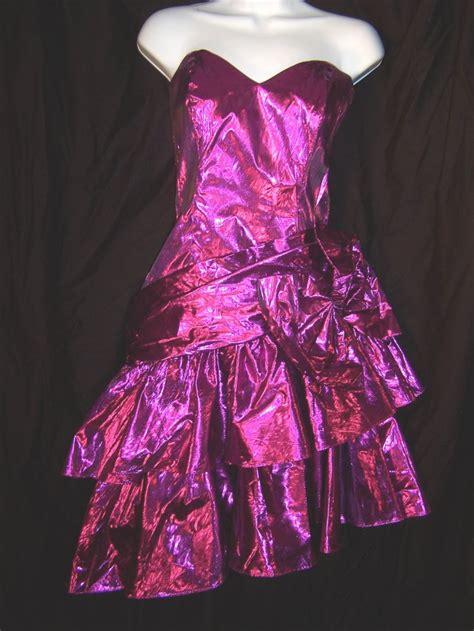 80 S Dress by 80 S Prom Dresses Vintage 80 S Purple Metallic Lam 233