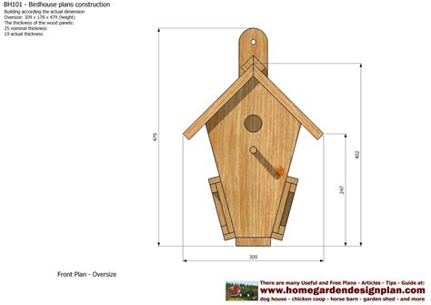Bird Houses Plans by Home Garden Plans Bh101 Bird House Plans Construction