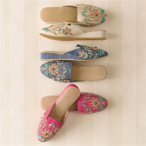 Embroidered Mules empress embroidered mules gump s