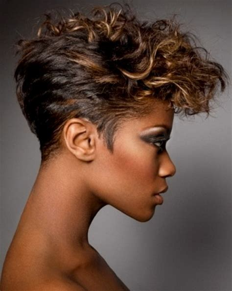 google short hair styles for black women with slender face very short pixie haircuts for black women