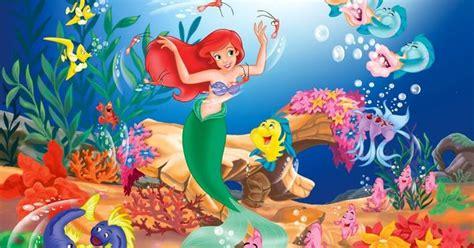 wild walls little mermaid light sound room decor only cartoondesktopwallpapers free download cartoon desktop