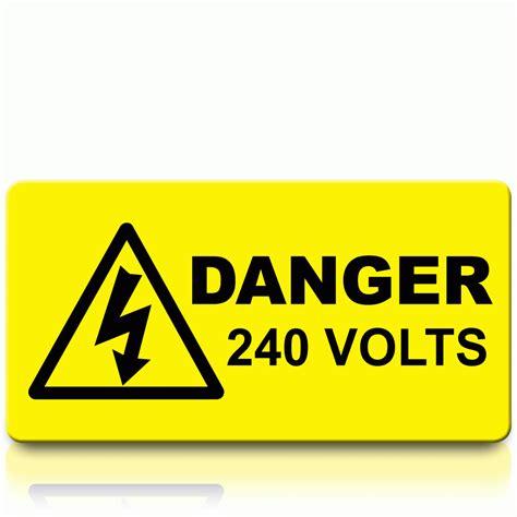 Aufkleber Quetschgefahr by Buy Danger 240v Voltage Labels Danger 240 Volts Stickers