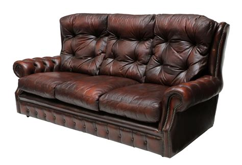 Oxblood Leather Sofa by Chesterfield Oxblood Leather Tufted Sofa Fantastic