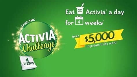 activa challenge activia challenge contest sweepstakesbible