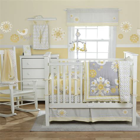 Yellow And White Crib Bedding Nursery Update Yellow Grey White Vintage Circus The Bump