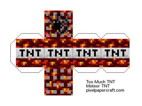 Minecraft Tnt Papercraft - much tnt crafting images