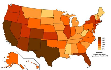 most populated state in usa demographics of hispanic and latino americans wikipedia