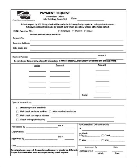 Sle Check Request Form 10 Free Documents In Doc Pdf Request For Payment Template