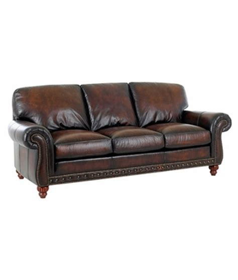 sofa leather world traditional style world leather sofa w rolled arms