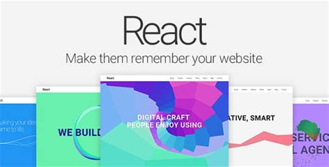 React Template React Material Design Multipurpose Template