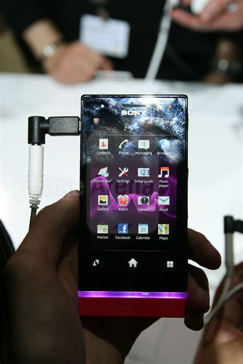 Sony Xperia U Hands-on Review | PhoneArena reviews Xperia U White Hands On