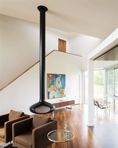 Fireorb Fireplace by Floating Fireplace Basement With Blue