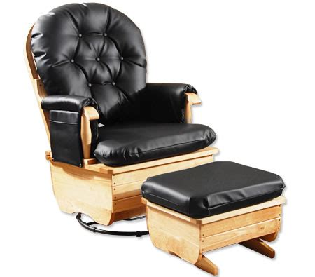 leather glider rocker with ottoman cushioned wooden glider chair with ottoman in pu leather