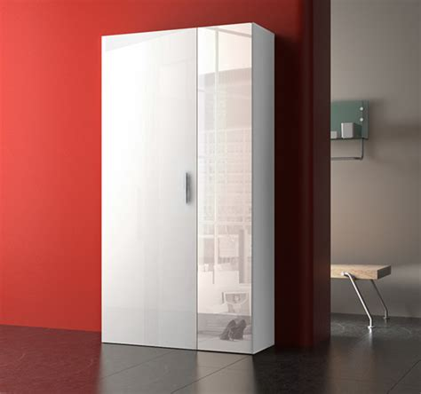 Armoire A Chaussure by Armoire 192 Chaussure Yvonne Blanc Blanc Brillant