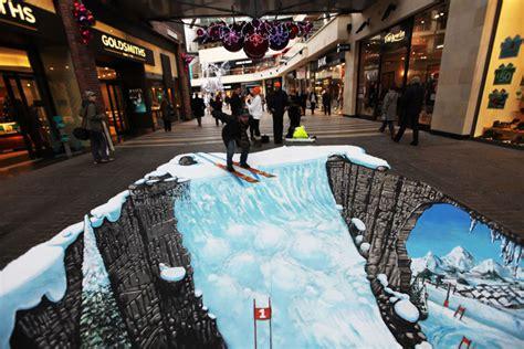3d By Joe Hill Reinventing صور رسوم ثلاثية الابعاد 3d على الشوارع للرسام البريطاني