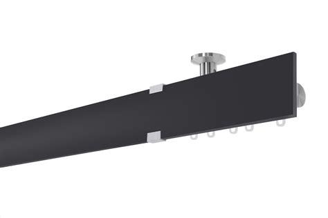 gardinenstange deckenmontage 1 laufig schwarz gardinenstange kristall s decke innenlauf 1 l 228 ufig m10092