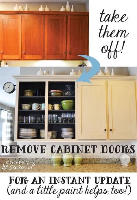 Taking Doors Kitchen Cabinets by Take Them Remove Cabinet Doors In Kitchen