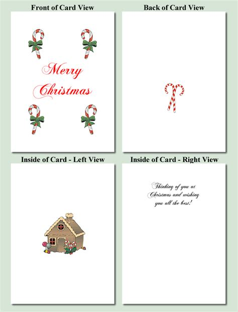 Printable Christmas Card Photo Templates Free | candy design free printable christmas cards