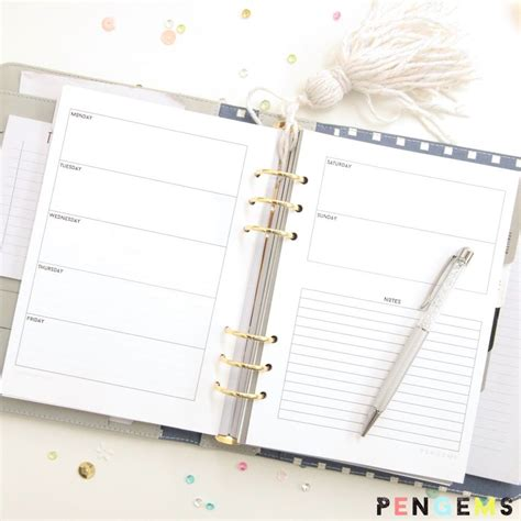 free printable a5 planner pages 2016 2016 free a5 printable planner inserts planner inserts