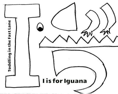 letter i is for iguana coloring page free printable toddling in the fast lane i es de iguana