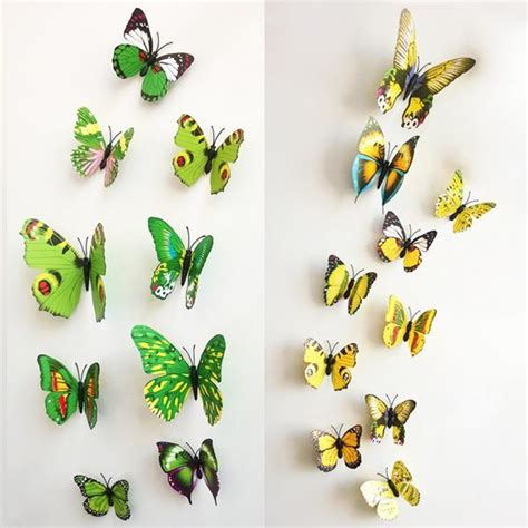 your supermart 12pcs 3d butterfly 12pcs 3d stereoscopic butterfly wall sticker living room