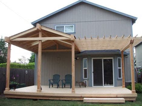 Covered Patio Roof Designs Small Solid Patio Cover Aj Has A Lot Of Work To Do Next Backyard Pinterest