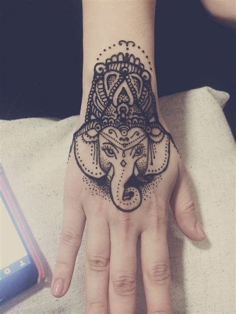 elephant henna tattoo on hand best 66 tattoos