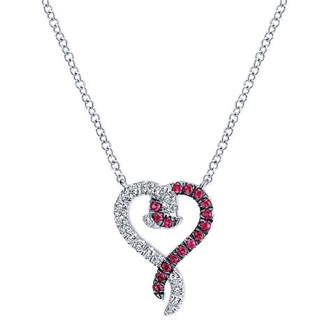 gabriel co engagement rings 11ctw ruby necklace
