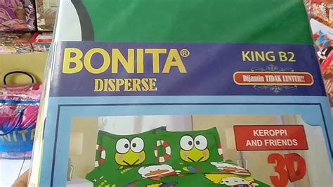 Sprei Bonita Ukuran 200x200 Sprai Bonita Motif Keropi And Friends
