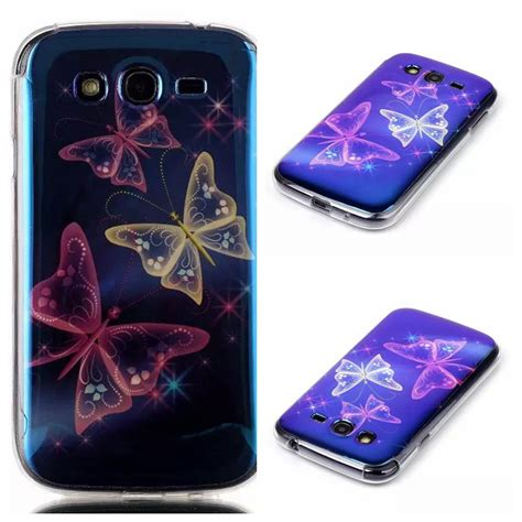 Softcase List Chrome Samsung Galaxy Grand Duos fashion tpu blue light phone soft for samsung galaxy grand duos i9082 neo i9060 plus i9060i