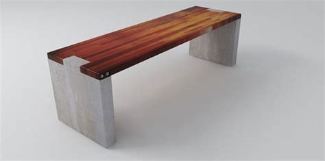 Wood Connection Furniture by Another Concrete Wood Connection Outside