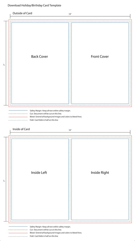 4 X 5 5 Folded Card Template by Greeting Cards Greeting Card Template 5x7 Birthday Card