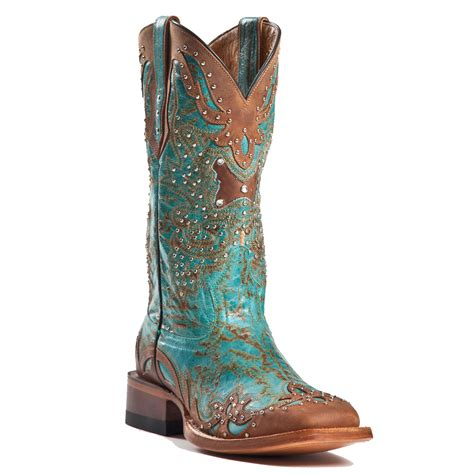 cowboy boots womans teal cowboy boots with inspiration in canada
