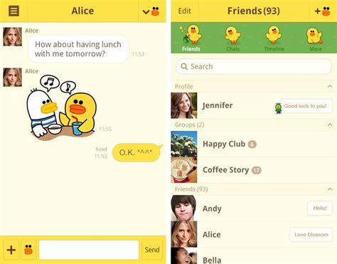 line theme android phone with 350 million registered users line looks at mobile