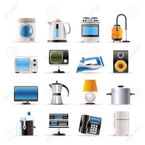 home equipment icons vector icon set royalty free