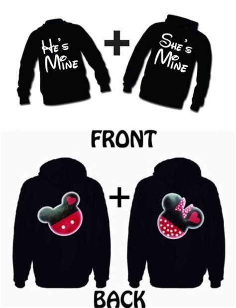 Matching Jackets For Couples Disney Matching Couples Hoodies Mickey And Minnie On The