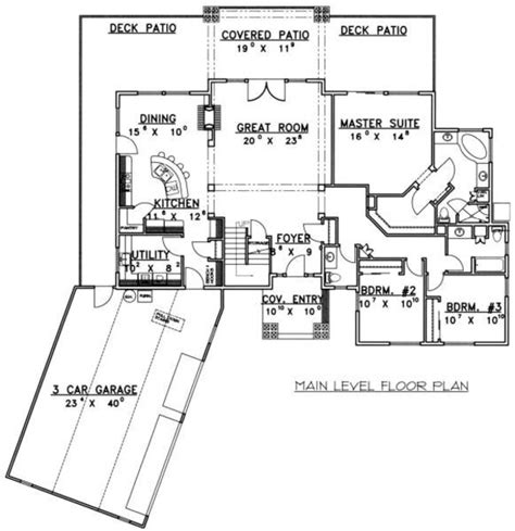 2400 square feet bungalow style house plan 3 beds 2 5 baths 2400 sq ft