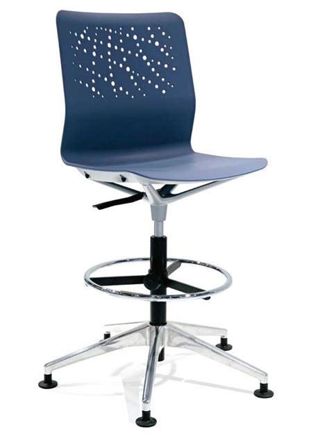 draughtsman chair with casters block a chair for spaces with