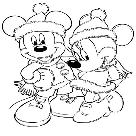 dibujos infantiles org minnie navidad para colorear e imprimir dibujosparacolorear