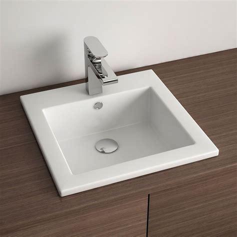vasque 224 encastrer carr 233 e 42 5x42 5 cm de robinet