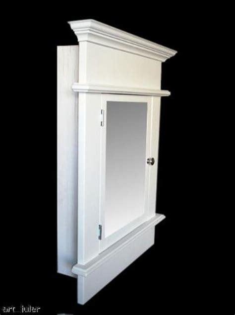 recessed medicine cabinet chelsi white white finish ebay
