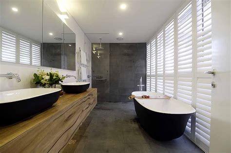 master ensuite bathroom designs matte black amiata bath wins the block master ensuite