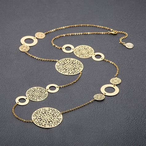 gold pattern chain online buy wholesale filigree gold necklace from china