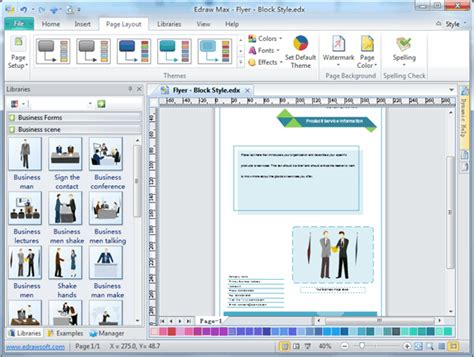 booklet layout software free flyer software easy to create flyers brochures